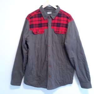 COLUMBIA MENS SZ LARGE QUILTED SHIRT JACKET